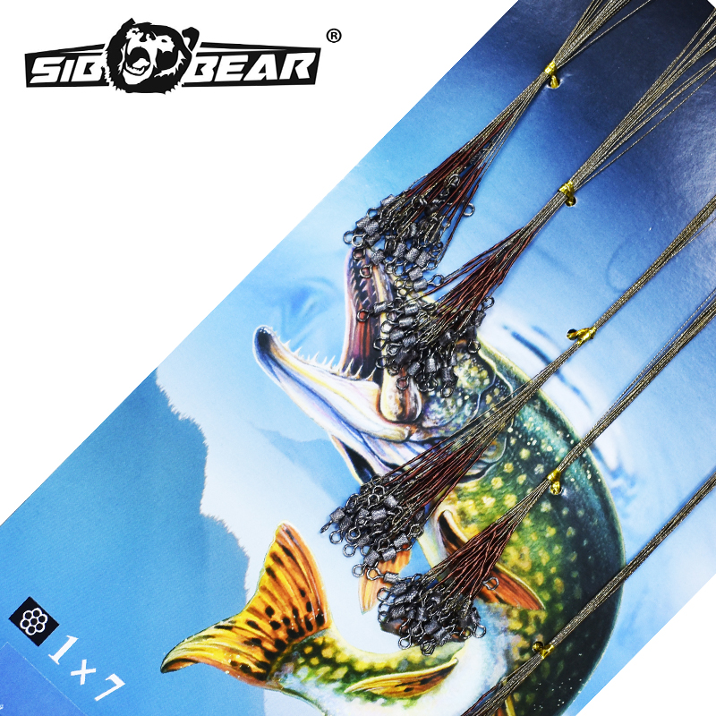 Fishing Leash SIBBEAR Steel 1*7.15 Cm 18 Cm 20 Cm 22 Cm 25 Cm 28 Cm Leashes For Bait. Anti-bite Fishing On щуку