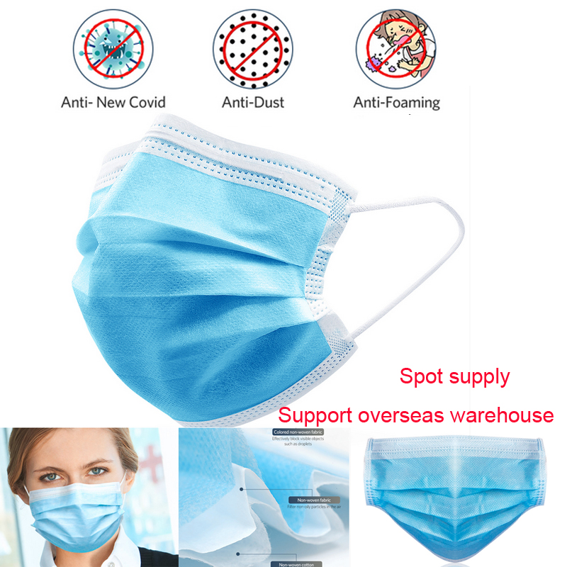 5/10/30/50/100pcs Masks Safety Protective Anti-dust 3 Layers Masks Breathable Anti-fog Earloops Mouth Face Mask Respirators