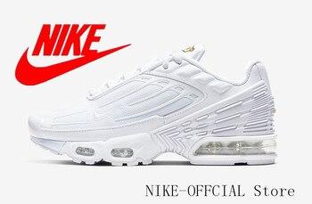 Original Nike AIR MAX plus 3 tn GS Men's Running Shoes Sport Outdoor Mesh Breathable Sneakers Athletic Designer CD6871-100