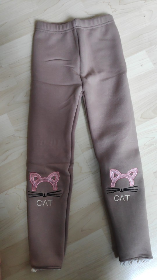 Girls Cotton Warm Leggings Winter Kids Cartoon Thick Velvet Pants for Baby Girls Children Cute Trousers Clothes Outfits Bootcut photo review