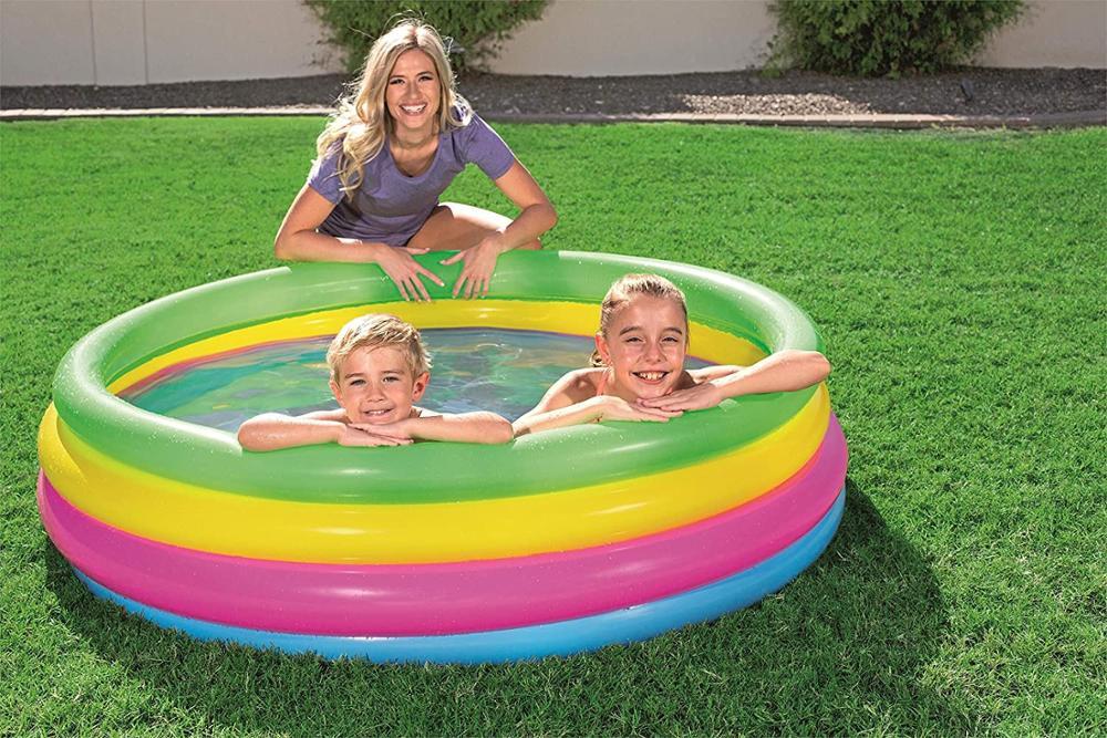 Pool Inflatable 4 Rings Colors 168x46 Cm,780 LTR Intex 56441