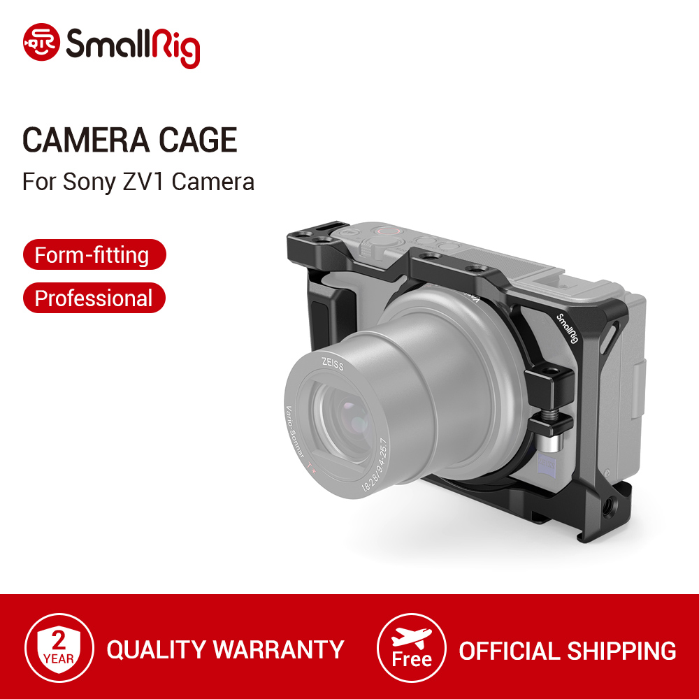 SmallRig ZV1 Cage for Sony ZV1 Camera Cage With Side Handle Integrated Cold Shoe For For Microphone Flash Light DIY Option 2938
