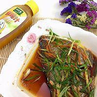 #太太乐鲜鸡汁芝麻香油#清蒸龙舌鱼的做法图解8