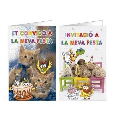 INVITATION CARD ARGUVAL FANTASIA PET BLISTER 8 PIECES ASSORTED CATALAN 15 Units
