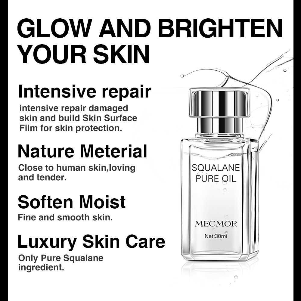 100% huile de Squalane Pure rajeunissant hydratant meilleur pour réparer la peau endommagée MECMOR additif naturel organique gratuit