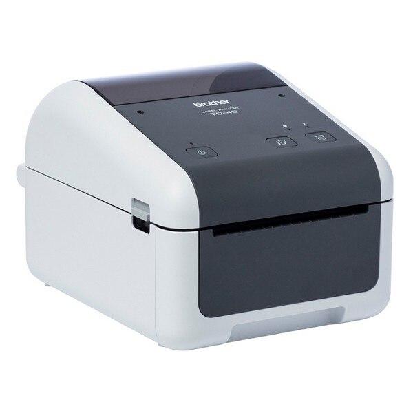Thermal Printer Brother TD4520DN 300 Dpi LAN USB 2.0 Grey White