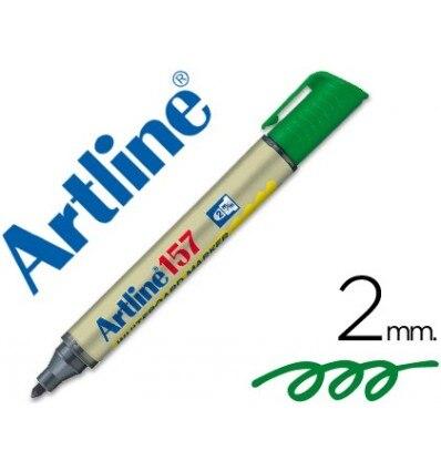 MARKER ARTLINE SLATE EK-157 GREEN-ROUND TOE 2 MM 12 Units