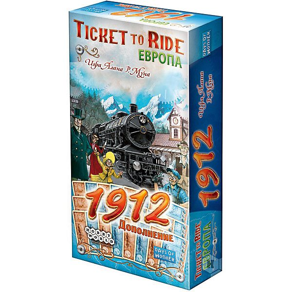 Board game Hobby World Ticket to Ride Europe: 1912, supplement hobby world настольная игра ticket to ride junior европа