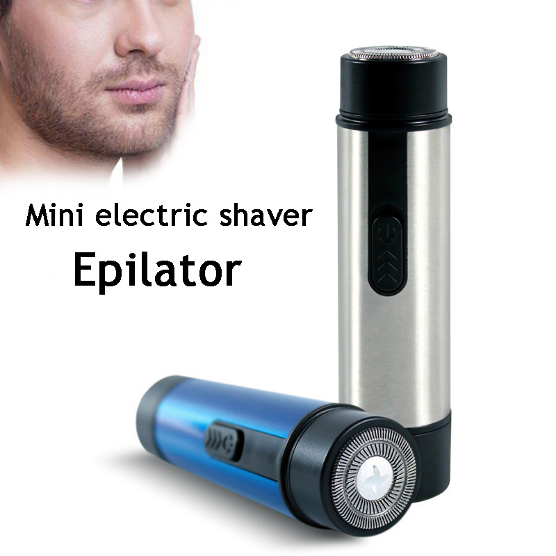electric shaver for men razor Summer travel epilator Dry battery drive Man remove hair tool Legs  body SU380 2