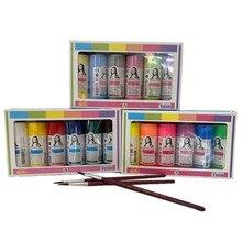 6/10/18 couleurs ensemble de peinture acrylique fournitures d'art peinture aérographe produit à main professionnel résistant à l'eau bricolage en bois de nombreuses surfaces
