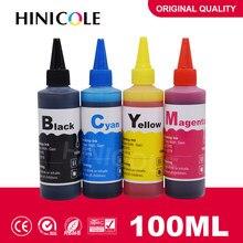 Hinicole Garrafa de 100ml De Tinta de Impressora Kit de Recarga de Tinta Corante Para HP para Canon Para O Irmão para Epson Para Ricoh cartucho jato De tinta Ciss Tanque
