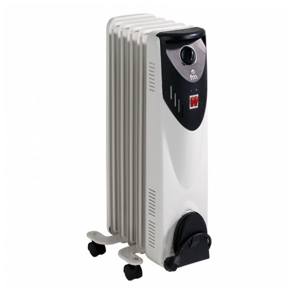 Oil-filled Radiator (5 Chamber) Grupo FM RW-10 1000W White