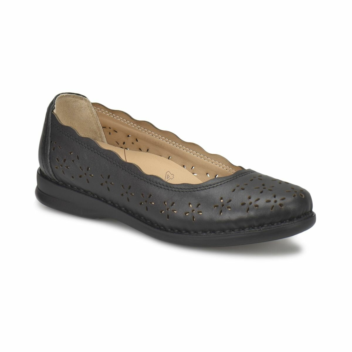 FLO 81.111091.Z Black Women Shoes Polaris 5 Point