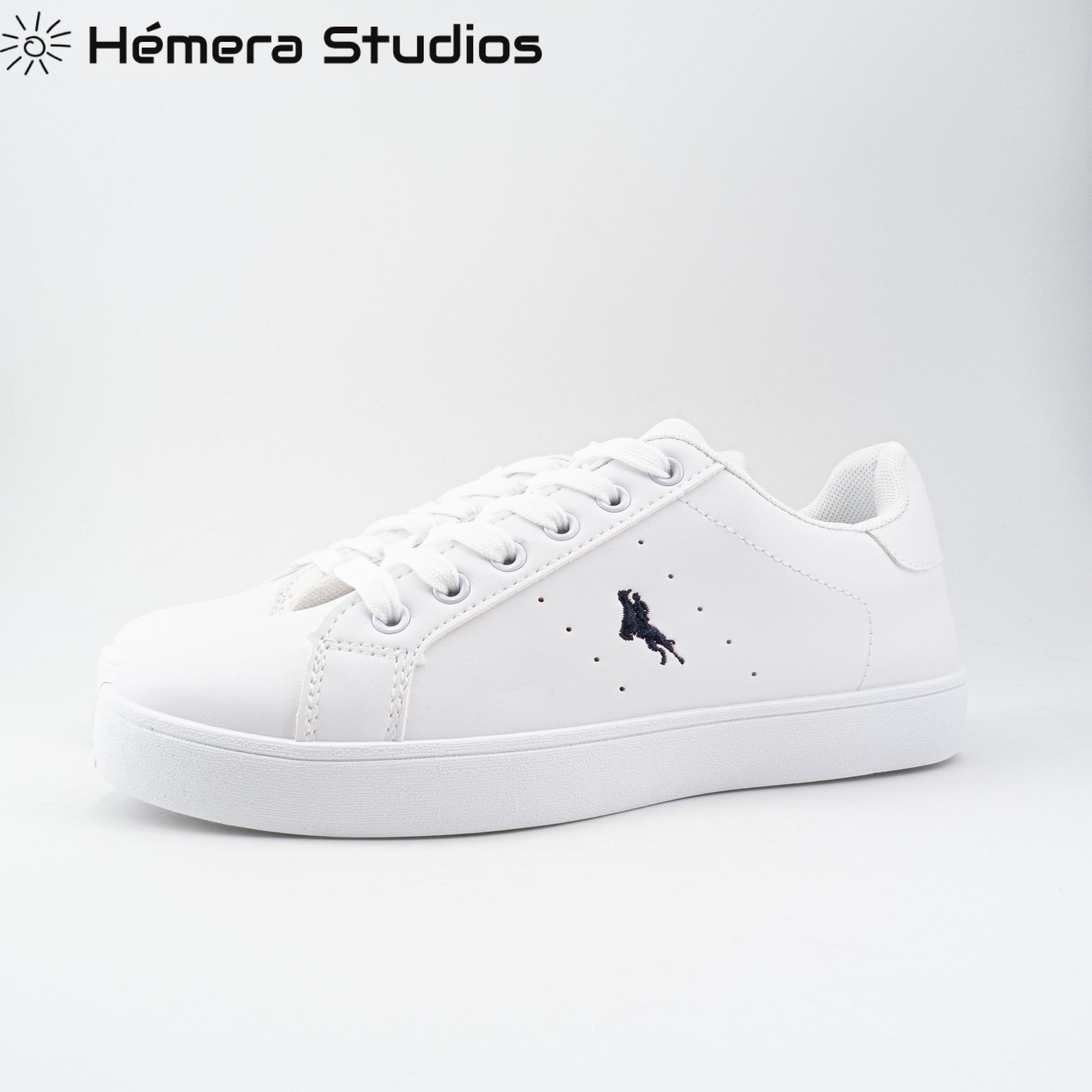 Women's Shoes Sports Casual Woman With Cords Platform Shoes Woman In White Color With Stamping Animal