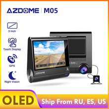 AZDOME-écran OLED caméra tableau de bord M05 | Caméra de voiture, caméra FHD de 3 pouces 1080P avec GPS, alerte de Fatigue du conducteur, Vison nocturne, caméra de bord, Parking(China)