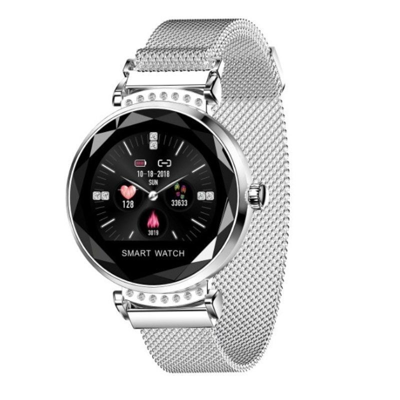 Smart Watch Innjoo Lady Crystal Silver-record Distance-heart Rate-monitoring Sleep-waterproof