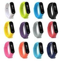 Xiaomi mi banda 4 pulseira de silicone mi banda 3 pulseira de substituição acessório relógio inteligente pulseira de silicone 18 colorido banda macia|Acessórios inteligentes|   -