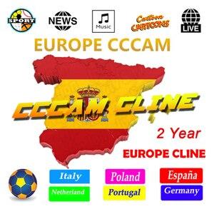 Europe Cccam Cline for 1 year Spain DVB-S2 Germany Poland Portugal 6/7/8/9 Europe Cline for Gtmedia V8 satellite receiver(China)