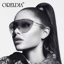 Surdimensionné femmes lunettes de soleil 2020 mode métal incurvé demi sans monture lunettes de soleil hommes femmes grands cadres lunettes nuances lunettes UV400