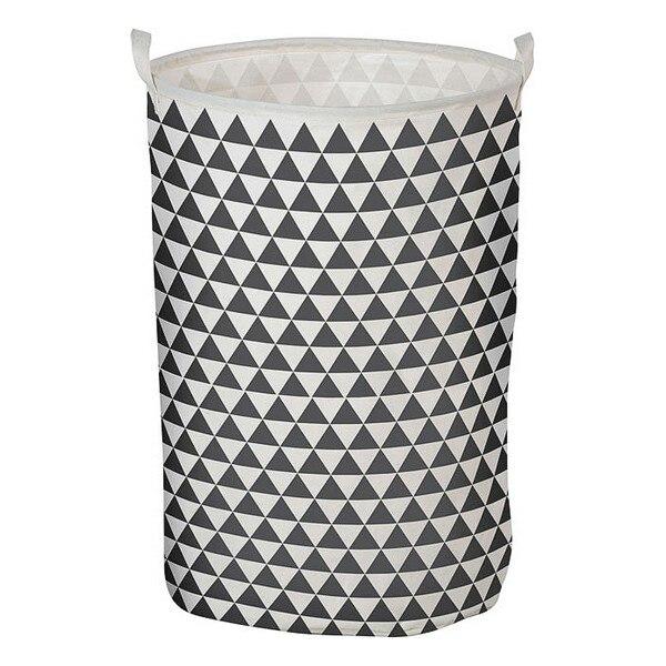 Ev ve Bahçe'ten Katlanabilir Depolama Çantaları'de Çamaşır sepeti üçgen beyaz gri 111119 title=