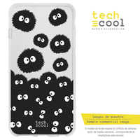 FunnyTech®Stand case for LG K10 2018 L Totoro Silicone Susuwatari Background transparent