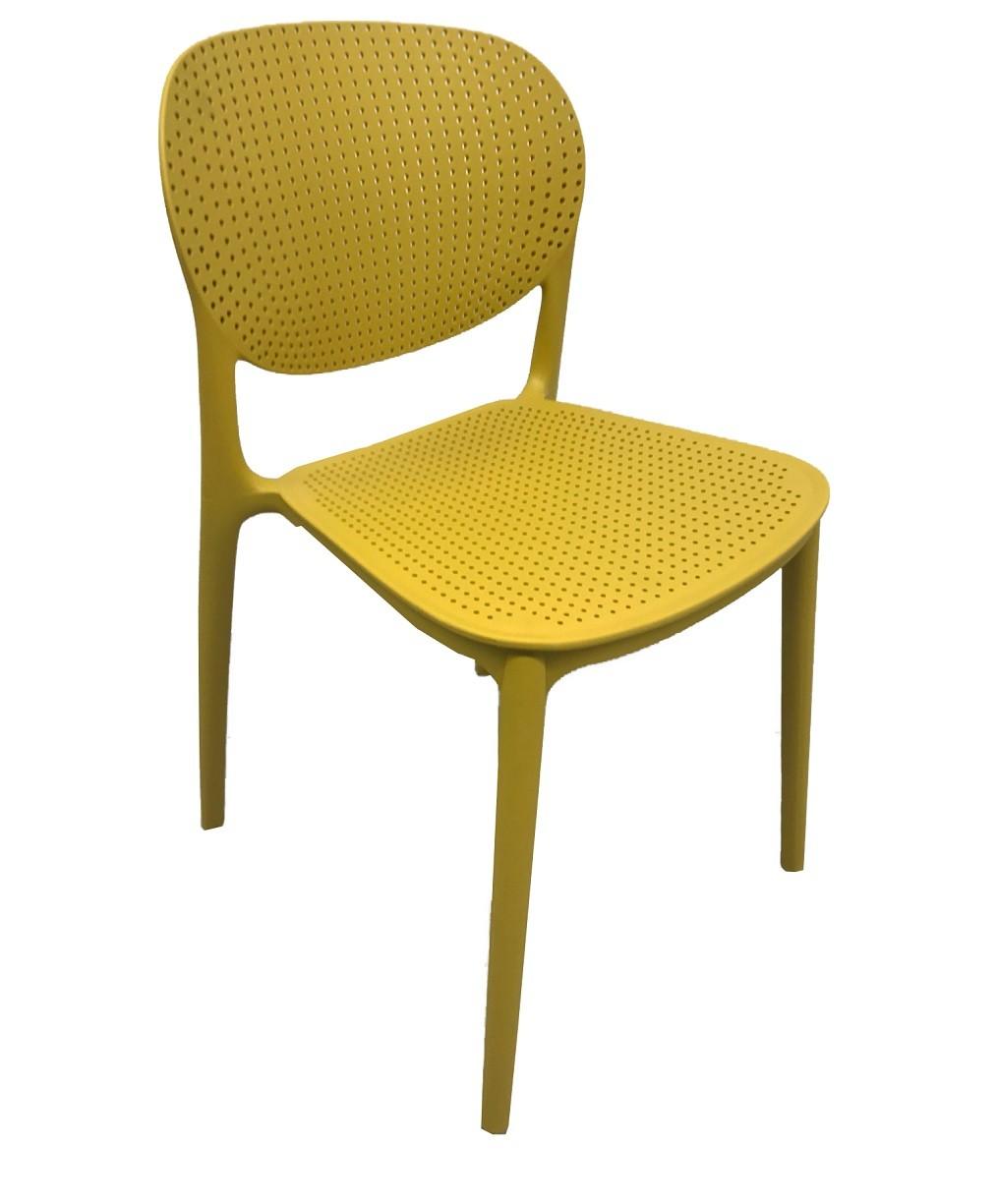 Chair OCEAN, Stackable, Polypropylene Mustard Yellow
