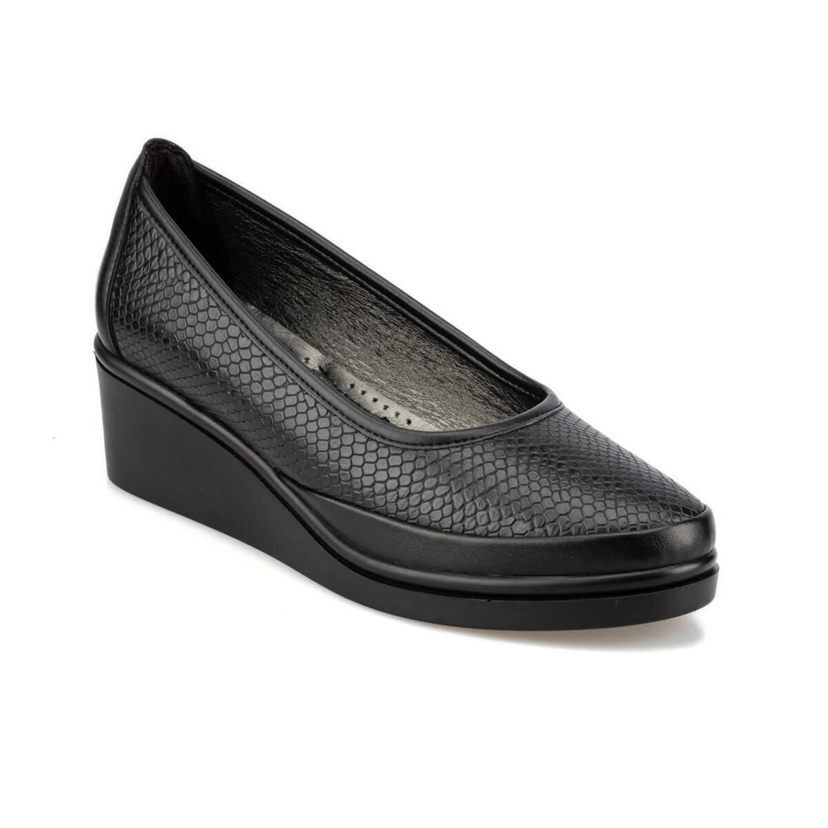 FLO 92.151038YZ Black Women 'S Wedges Shoes Polaris