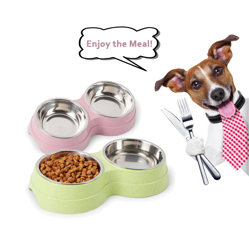 Dog Bowls Stainless Steel Water And Food Feeder Non Spill Skid Resistant Dog Cat Food Feeder For Pets Puppy Small Medium Dogs