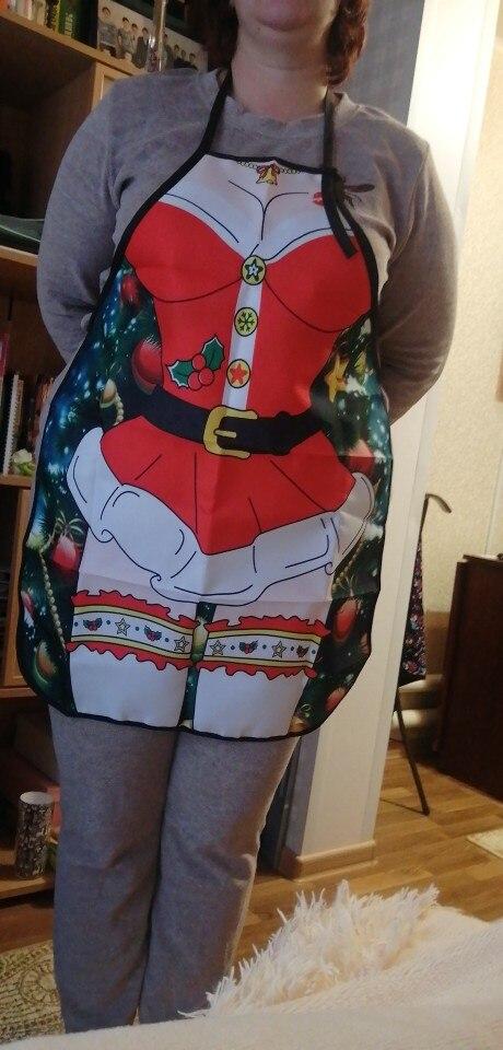 Christmas Funny Kitchen Apron photo review