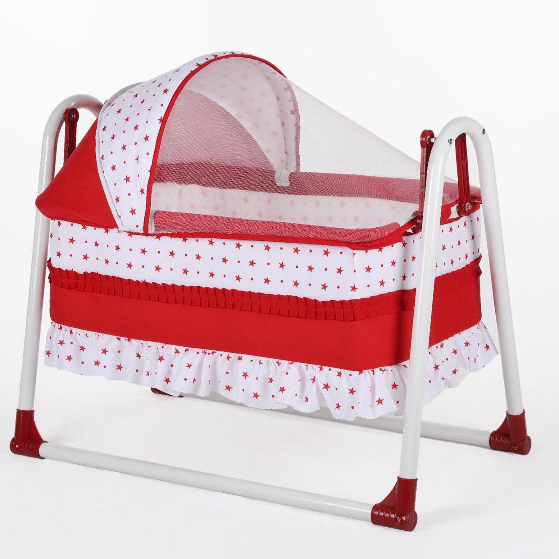 Bebegen Elite Portable Rocking Baby Cradle Red
