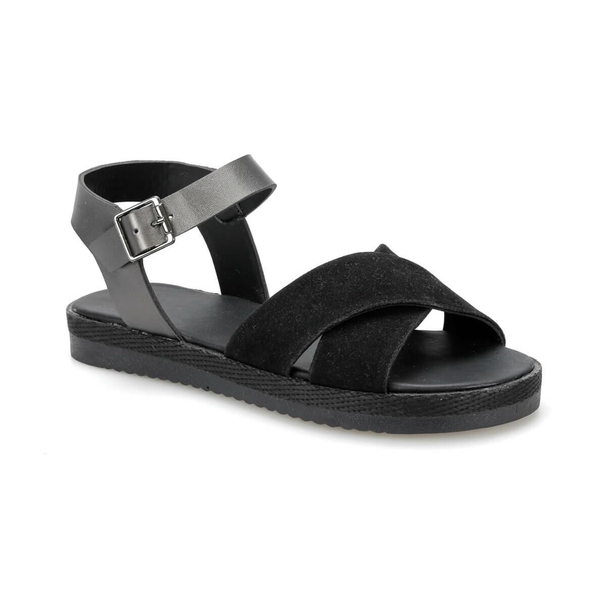 FLO CS19143 Black Women Sandals Art Bella