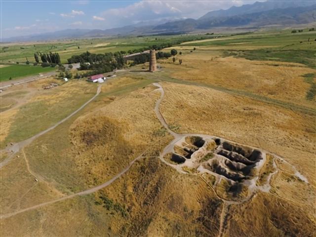 李白的碎叶城遗址,李白的碎叶城是怎么来的?石头证明碎叶城的方位