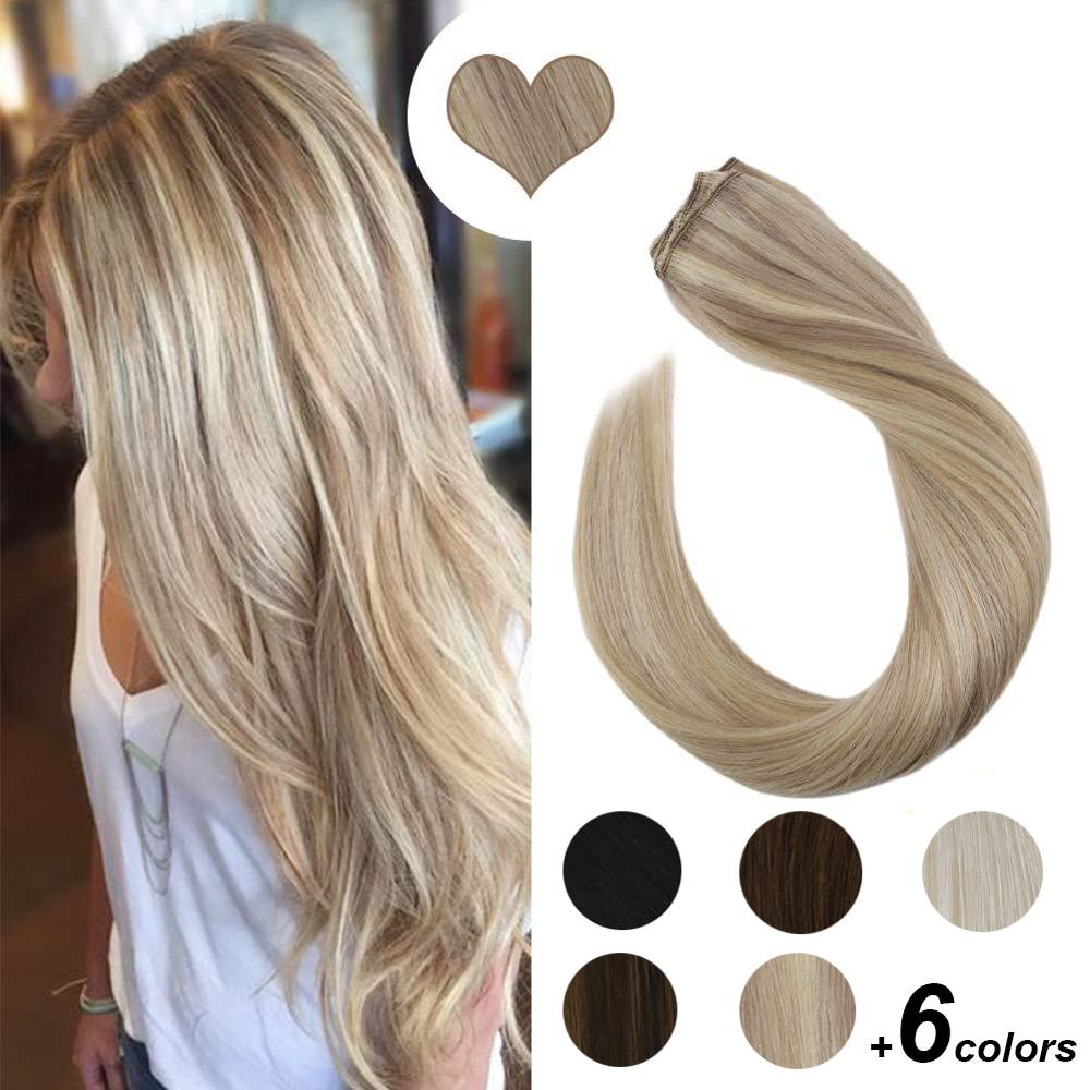 [New Arrival]Clip In One Piece Hair Extensions Machine Remy Human Hair 14-24