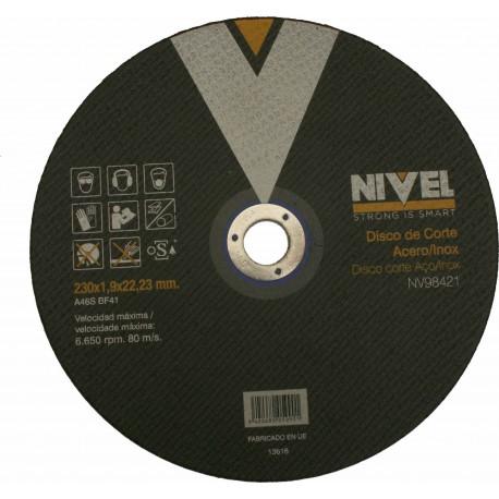 CUTTING DISC STEEL 230x1,8x22 MM LEVEL