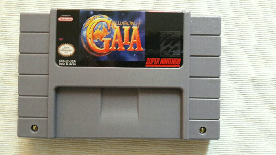 Illusion of Gaia with box 16bit game cartridge US Version photo review