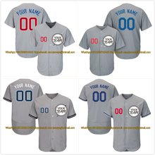 Baseball Jersey Name-Number T-Shirt Softball-Uniform Customize Logo Youth Men Gray Stitch-Team