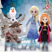 Ty Sven олень Олаф Снеговик плюшевые куклы игрушки 15 см