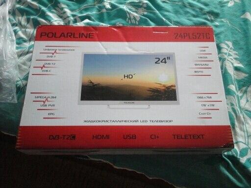 """Телевизор 24"""" Polarline 24PL52TC HD"""