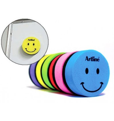 DRAFT ARTLINE SLATE WHITE ROUND MAGNETIC FACE SMILEY COLORS ASSORTED