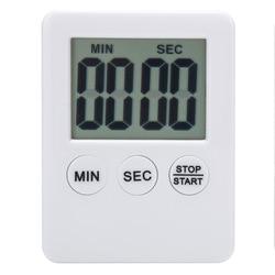 새로운 1Pc 6 색 슈퍼 얇은 LCD 디지털 화면 주방 타이머 광장 요리 카운트 다운 카운트 다운 알람 자석 시계