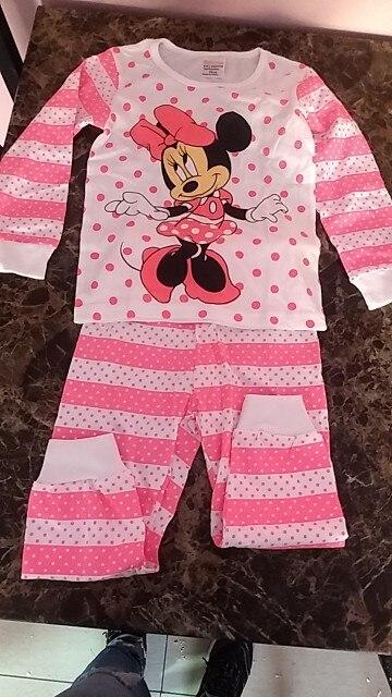 Kids Pajamas Set Children Sleepwear Cartoon Mickey Minnie Mouse Cars Pyjamas Pijamas Baby Boys Girl Cotton Nightwear Clothes Set photo review