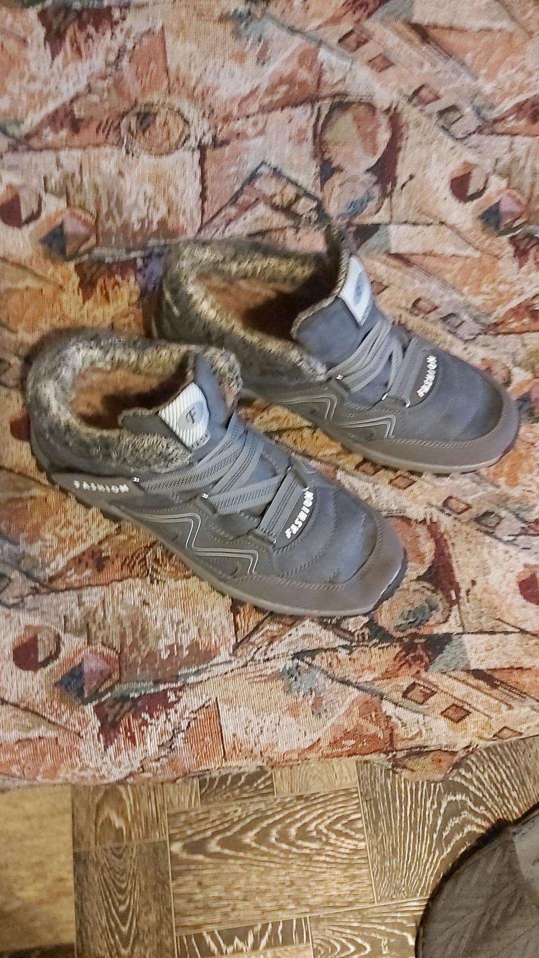 Men's Cotton Plus Velvet Outdoor Hiking Boots photo review