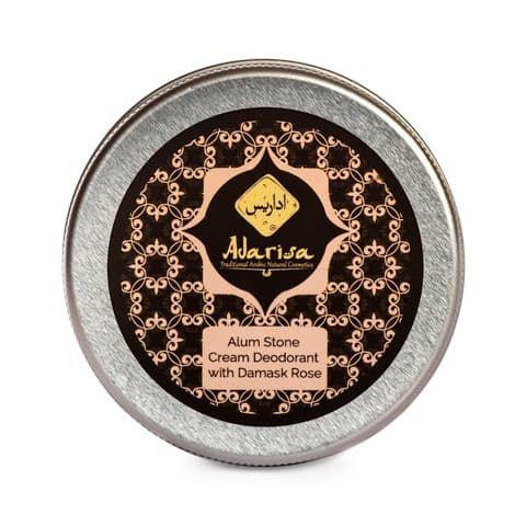 Alunite Deodorant Cream With Damascus Rose