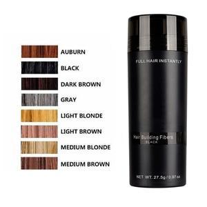 Image 5 - Sıcak! Otantik Keratin saç lifleri sprey 27.5g 9 renkler tozu saç dökülmesi yapı Hairline doktoru yoğun saç büyüme TSLM2