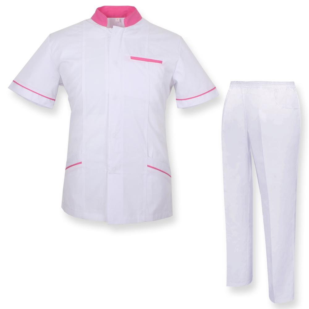 Robe Laboratory And PANT NECK REFURBISHED Sanitaries UNIFORMS UNIFORM MEDICOS-Ref.7018