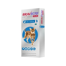 BRAVECTO PLUS CAT SPOT ON 1 PIPETA MSD 500 мг 6,25-12 кг
