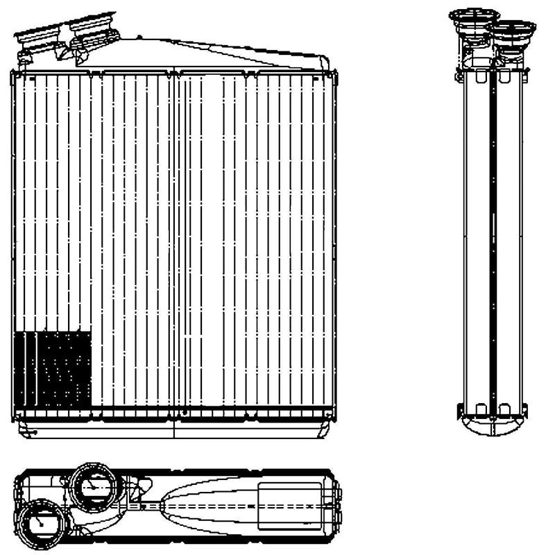 цена на HELLA 8FH 351 315-541 for Radiator отоп. (теплооб.) Volvo XC60, V70 (180x178x32mm.) 42460
