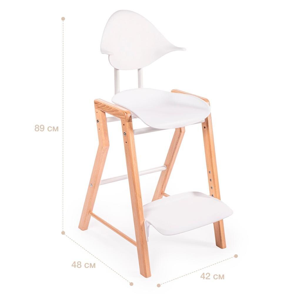Cadeiras de bebê feliz ecolux cadeira alta para crianças alimentação para meninos e meninas para mesa do bebê recém-nascido madeira branco