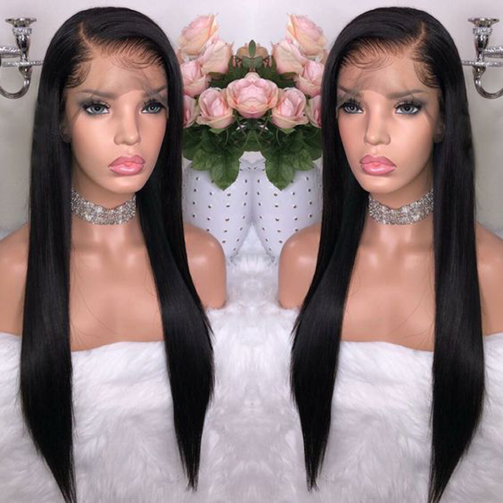 BeauDiva Peruvian 360 Lace Frontal Wig Straight Hair Wigs 100% Human With Baby For Black Women