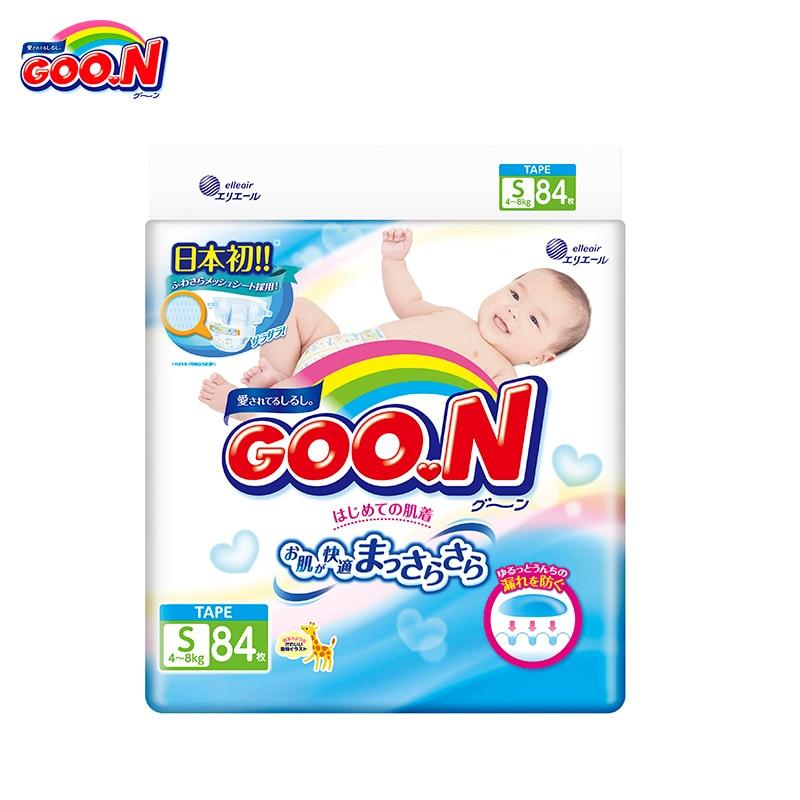 Подгузники GOON Boys and Girls 4-8 кг (84 шт.) S
